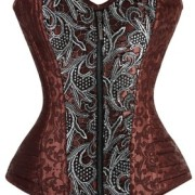 Charmian-Womens-Brocade-Steampunk-Embroidery-Zipper-Steel-Boned-Overbust-cors-0-0