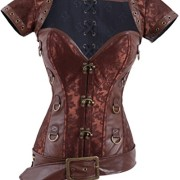 Charmian-Womens-Retro-Goth-Brocade-Steampunk-Overbust-cors-with-Jacket-and-Blet-0