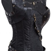 Charmian-Womens-Retro-Goth-Steel-Boned-Brocade-Vintage-Steampunk-Bustiers-Corsets-0-1