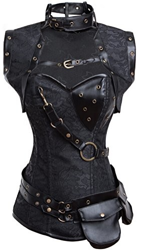 Charmian-Womens-Retro-Goth-Steel-Boned-Brocade-Vintage-Steampunk-Bustiers-Corsets-0