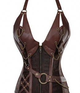Charmian-Womens-Spiral-Steel-Boned-Steampunk-Goth-Halter-Leather-Bustier-cors-0