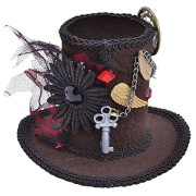 Steampunk-Tall-Top-Hat-Mini-Accessory-Fancy-Dress-0