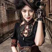 Camisa-con-borde-color-marrn-y-de-escote-de-steampunk-RQBL-top-encaje-0-0
