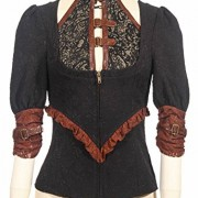Camisa-con-borde-color-marrn-y-de-escote-de-steampunk-RQBL-top-encaje-0