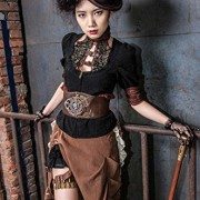 Camisa-con-borde-color-marrn-y-de-escote-de-steampunk-RQBL-top-encaje-0-2